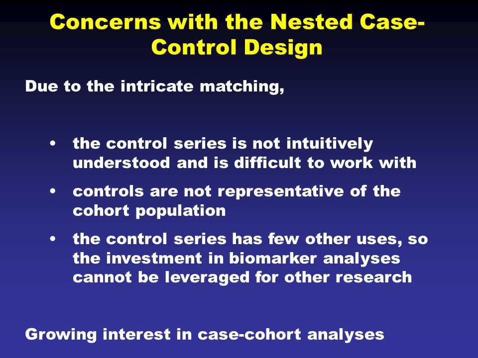 are nested case-control studies biased