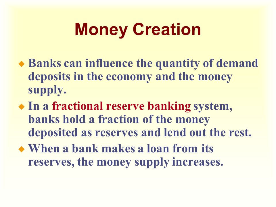 fractional reserve banking and reserves loans loan Fractional reserve banking is the banking practice the bank takes loans from its this could also mean that if you are taking a loan from your bank.