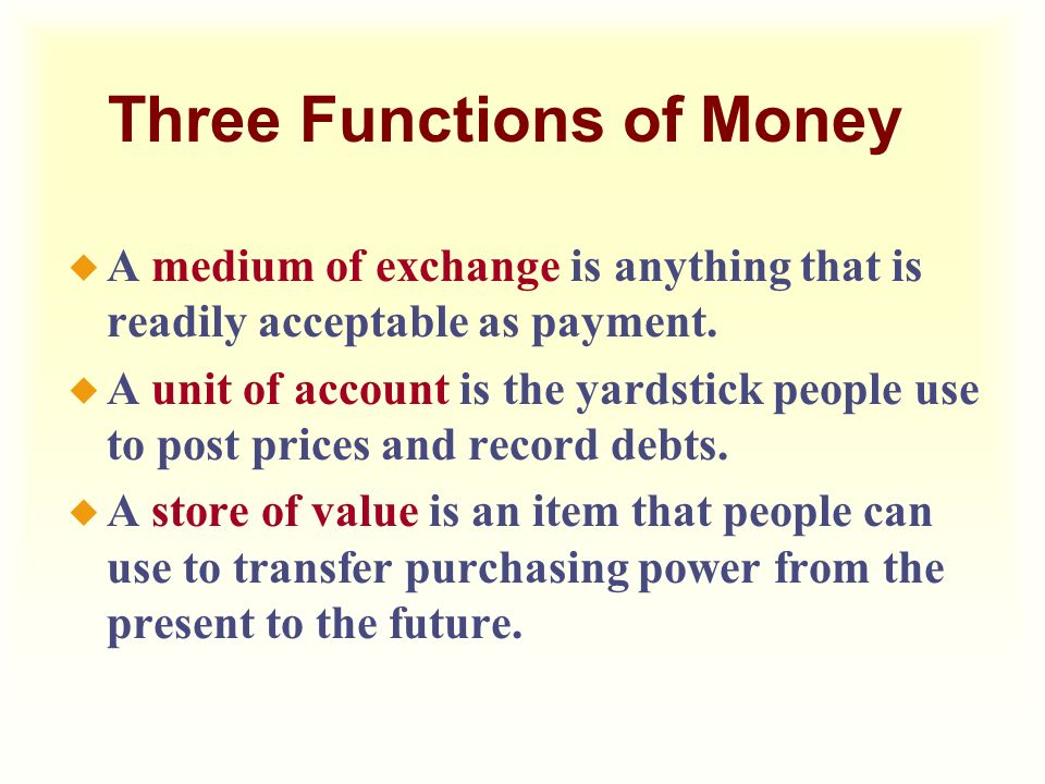 What are the important functions of Money ?