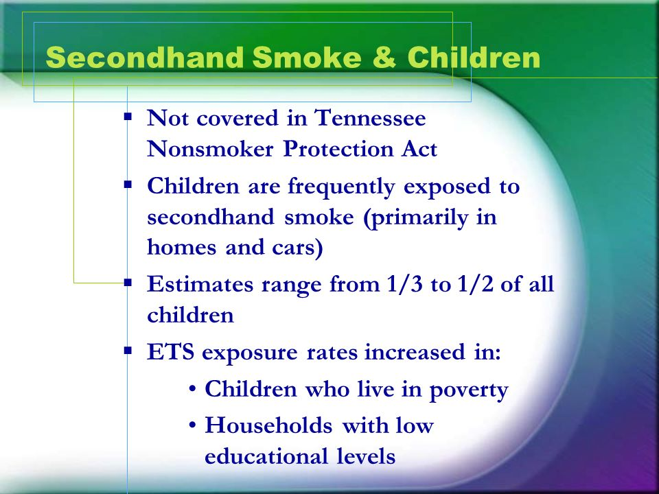 Secondhand Smoke & Children