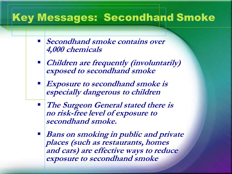 Key Messages: Secondhand Smoke