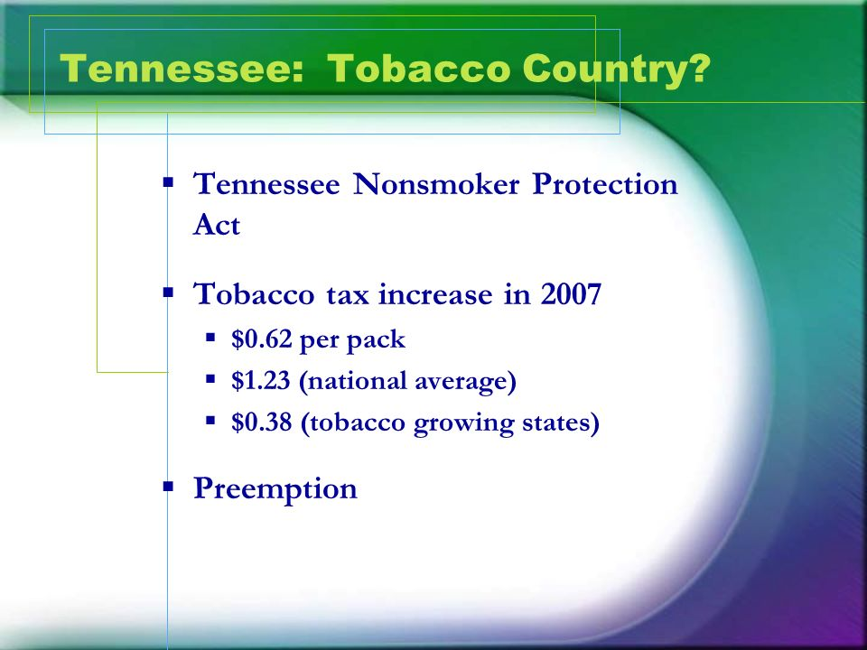 Tennessee: Tobacco Country