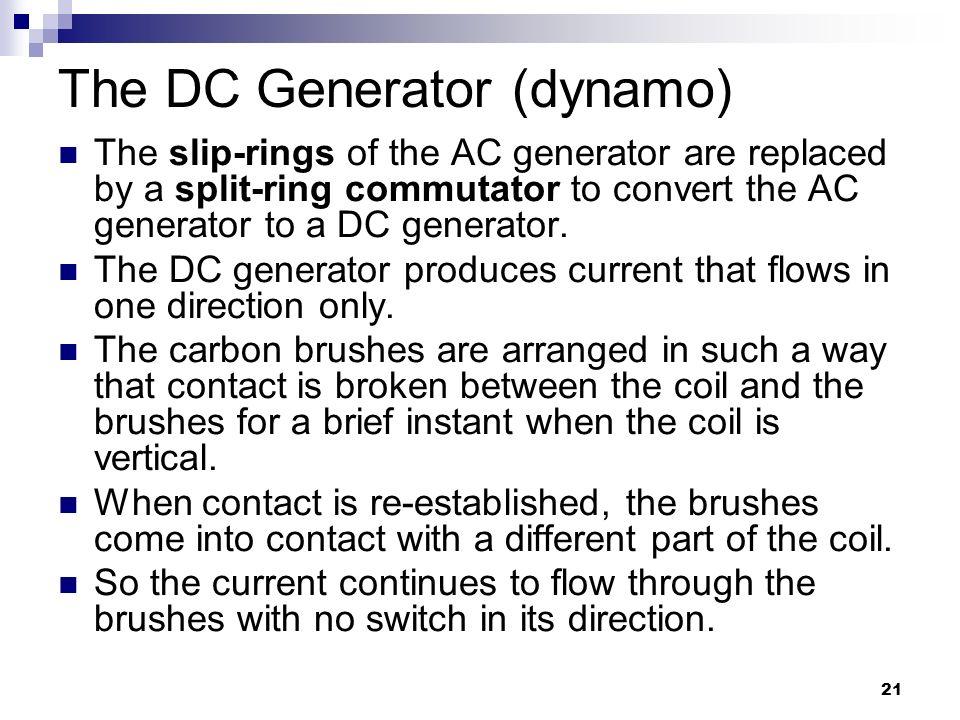 The DC Generator (dynamo)