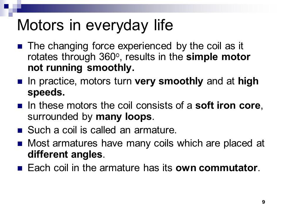 Motors in everyday life