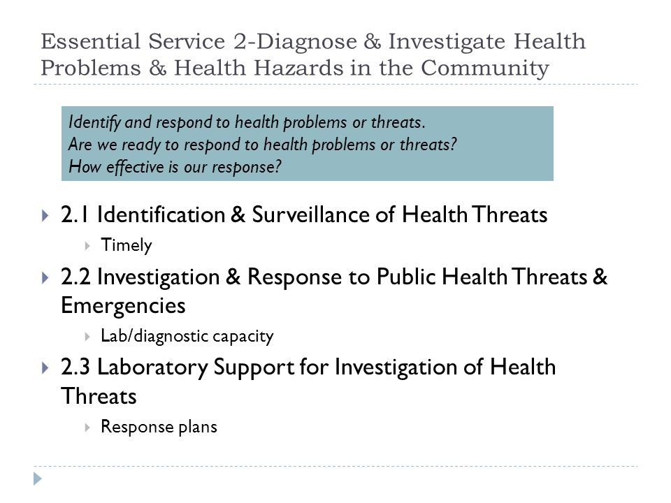 2.1 Identification & Surveillance of Health Threats