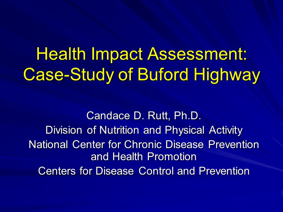 Health Impact Assessment: Case-Study of Buford Highway