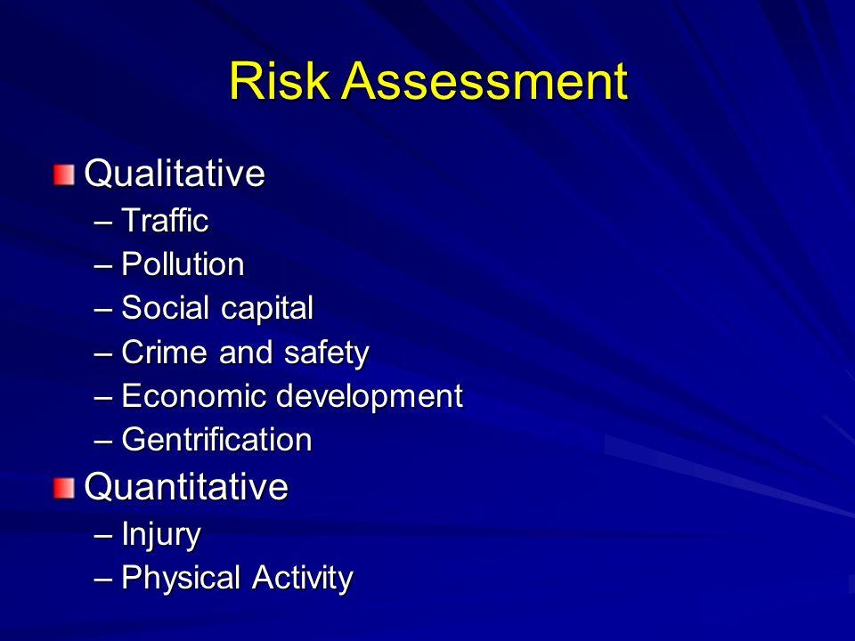 Risk Assessment Qualitative Quantitative Traffic Pollution