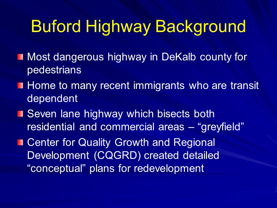 Buford Highway Background