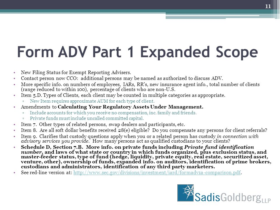 Exempt Reporting Advisers Must File Form ADV Part 1A - ppt download