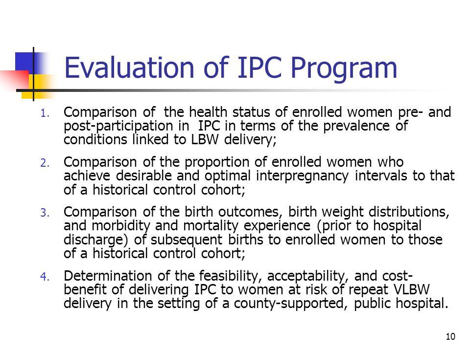 Evaluation of IPC Program