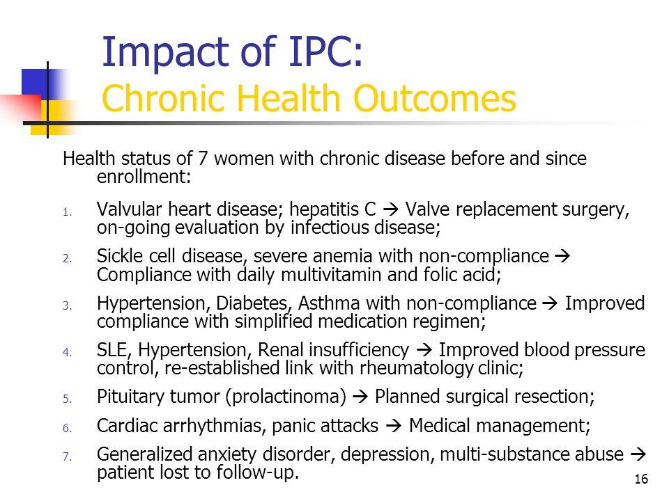 Impact of IPC: Chronic Health Outcomes