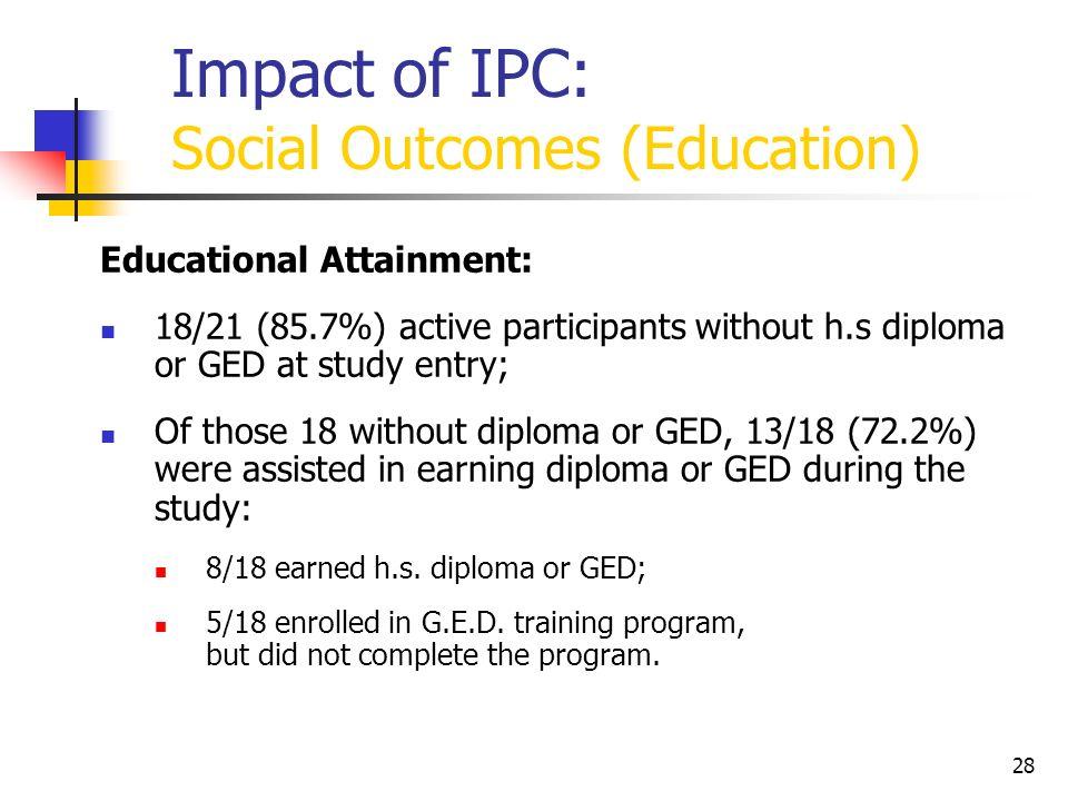 Impact of IPC: Social Outcomes (Education)