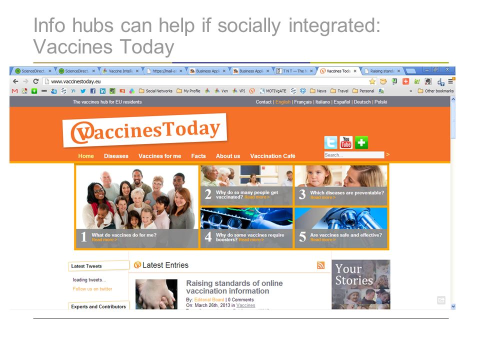 Info hubs can help if socially integrated: Vaccines Today