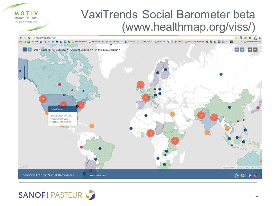 VaxiTrends Social Barometer beta (www.healthmap.org/viss/)