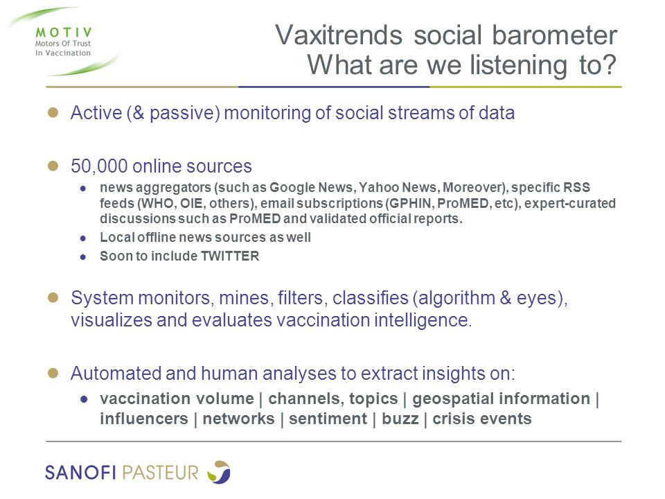 Vaxitrends social barometer What are we listening to