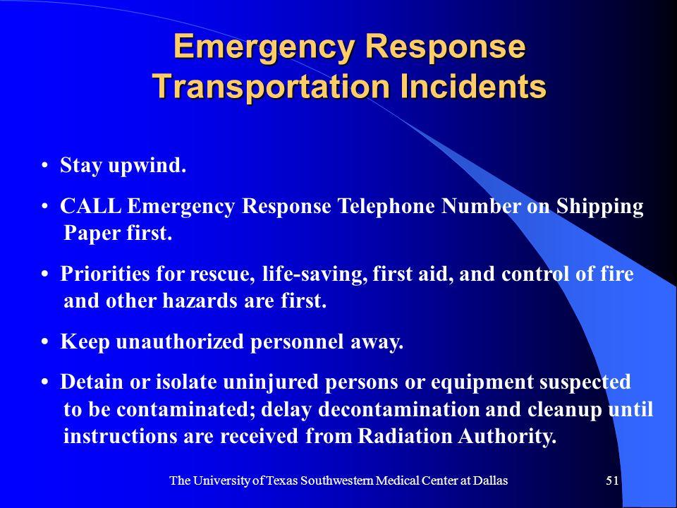 Emergency Response Transportation Incidents