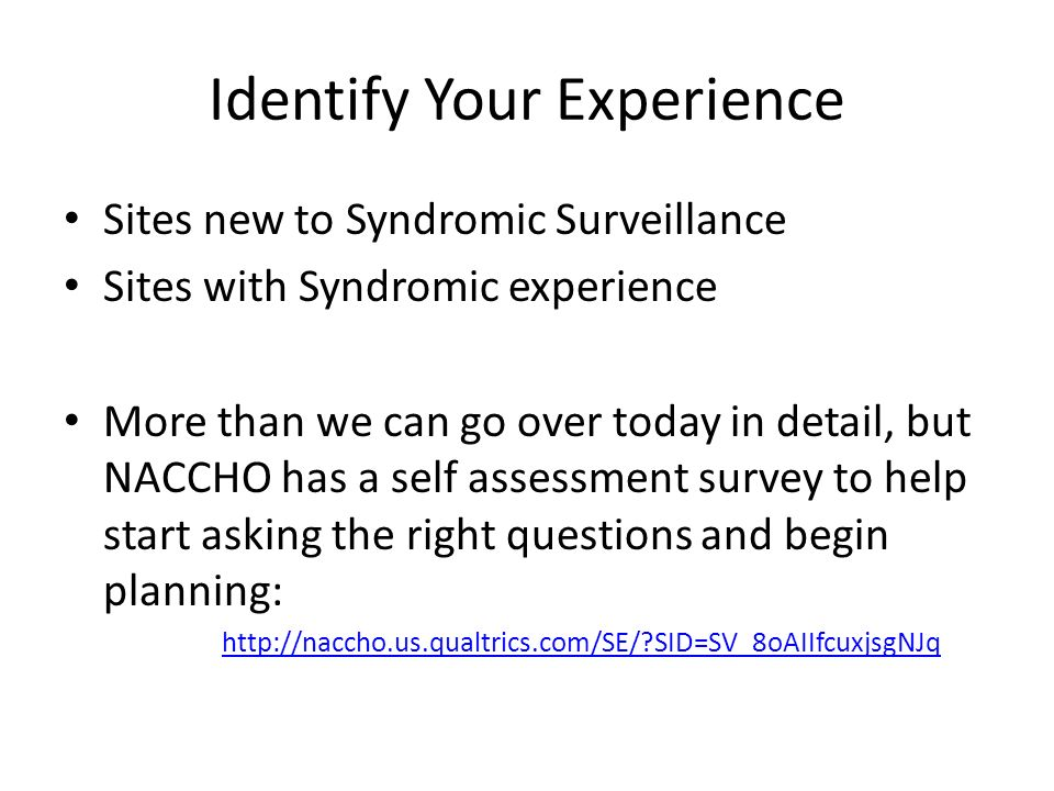 Identify Your Experience