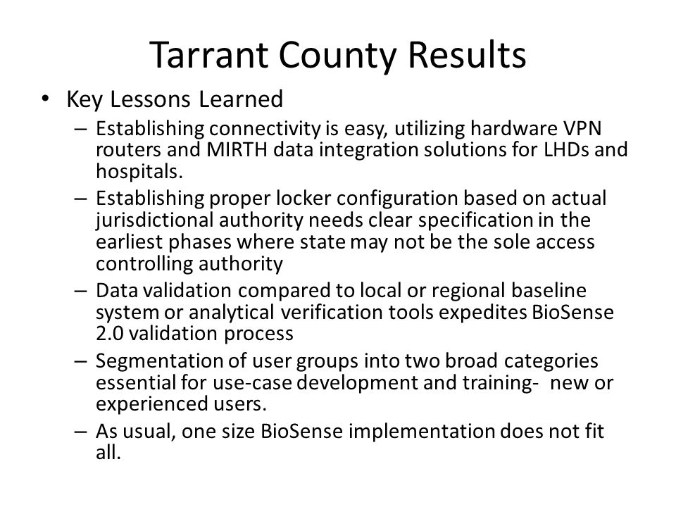 Tarrant County Results