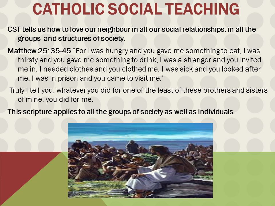 the catholic social teachings: its application in our world today essay A custom written essay importance of education in the modern world the foundation of the society is based on education since it brings economic and social.