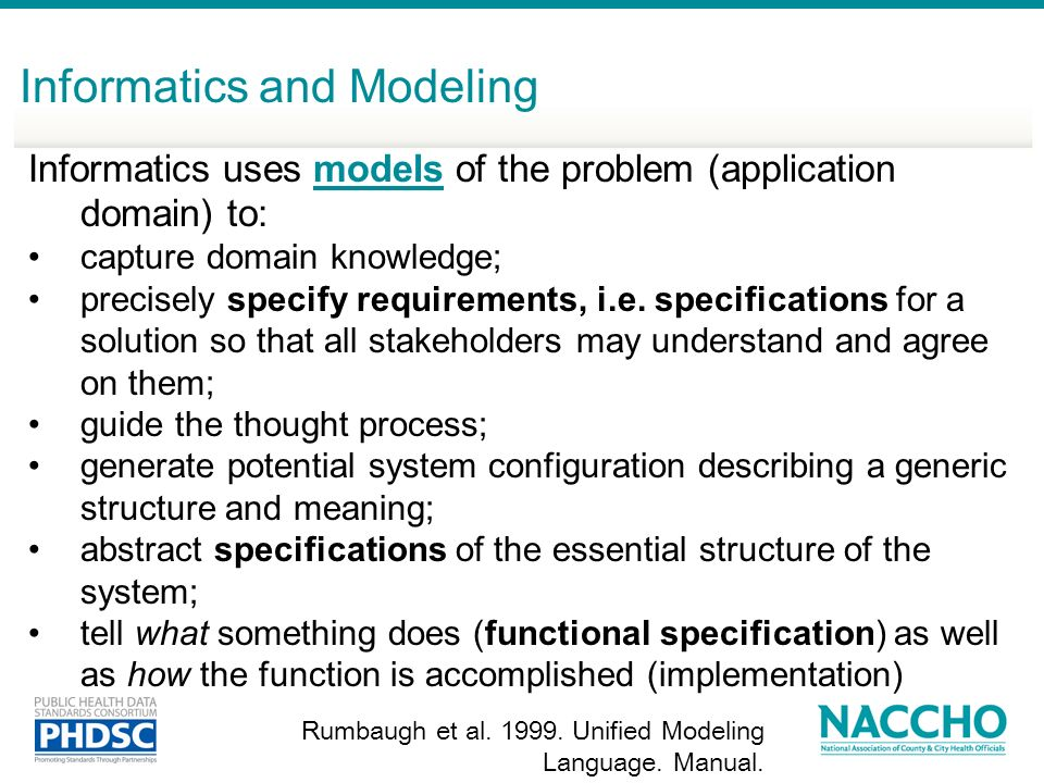 Informatics and Modeling