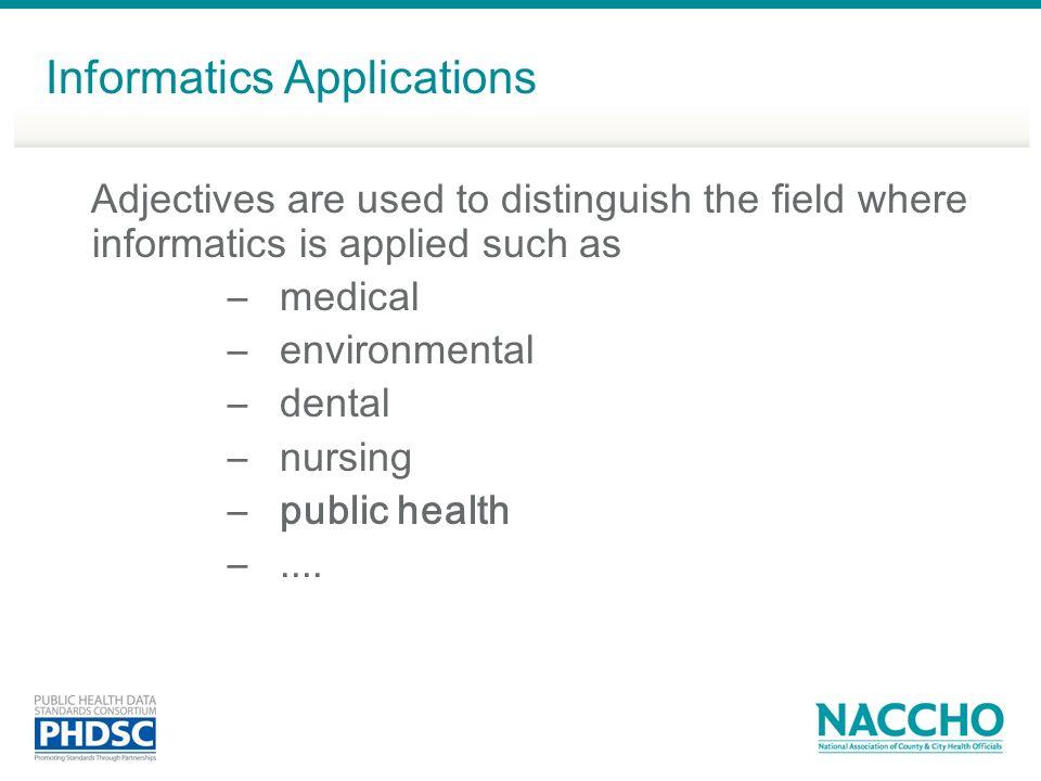 Informatics Applications