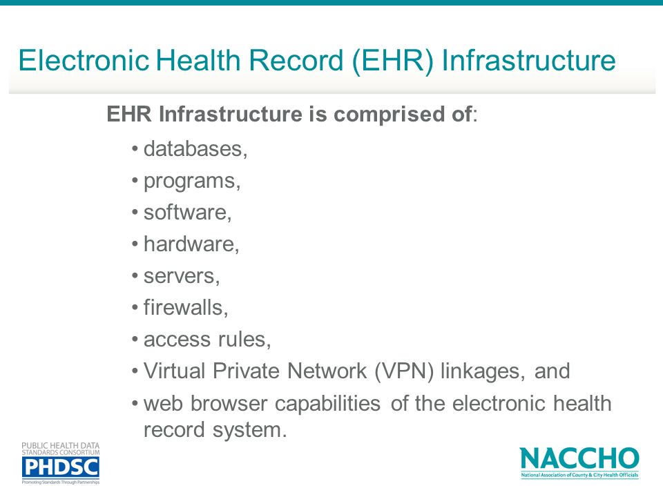 Electronic Health Record (EHR) Infrastructure