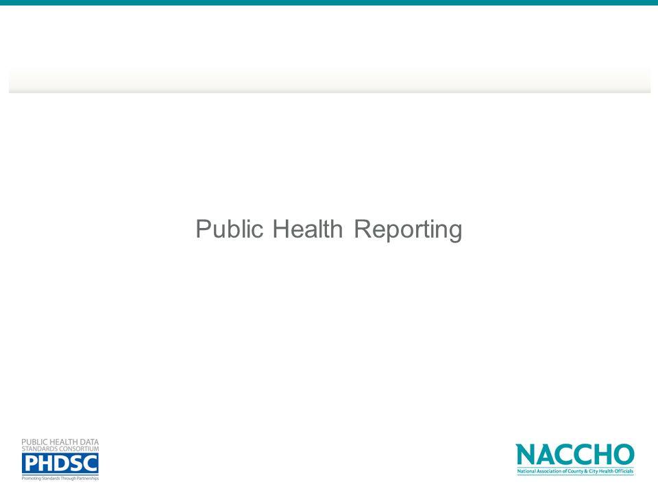 Public Health Reporting