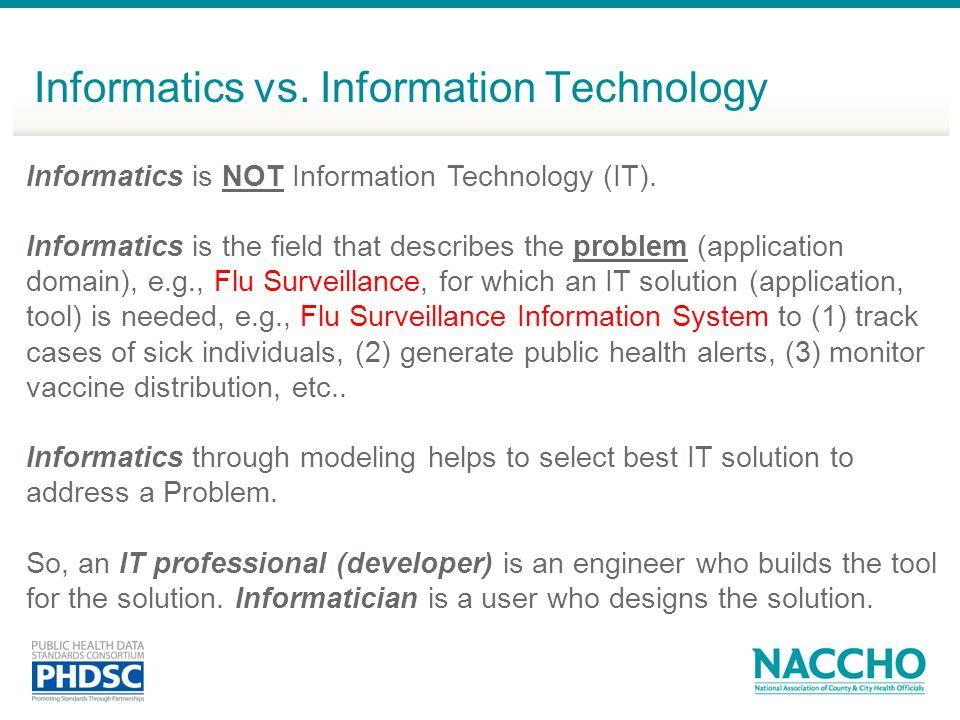 Informatics vs. Information Technology