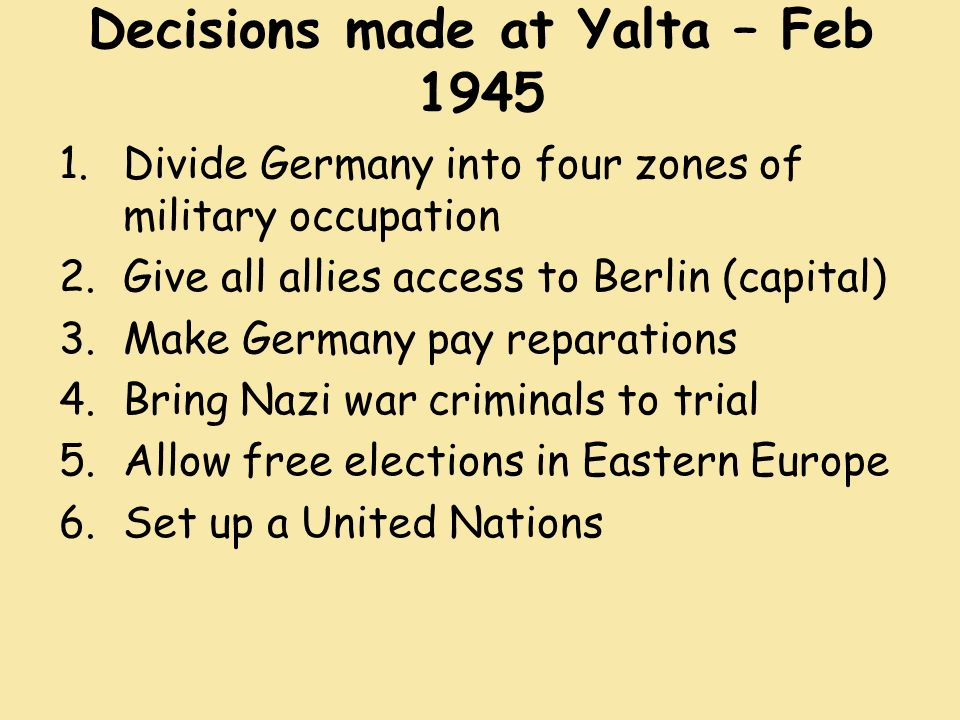 Decisions At Yalta An Appraisal Of Summit Diplomacy