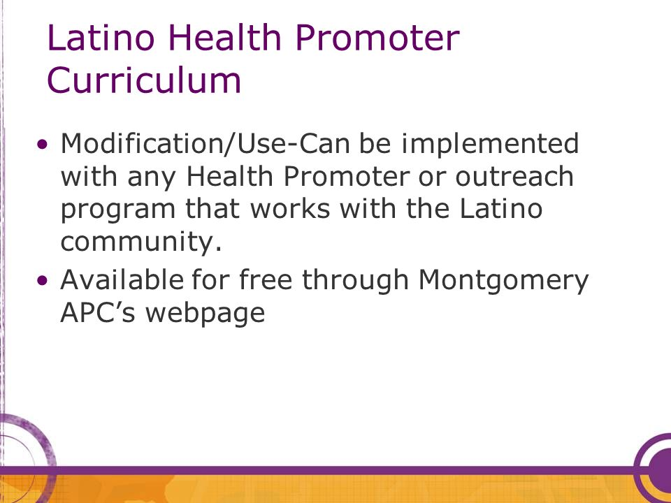 Latino Health Promoter Curriculum