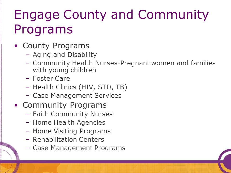 Engage County and Community Programs