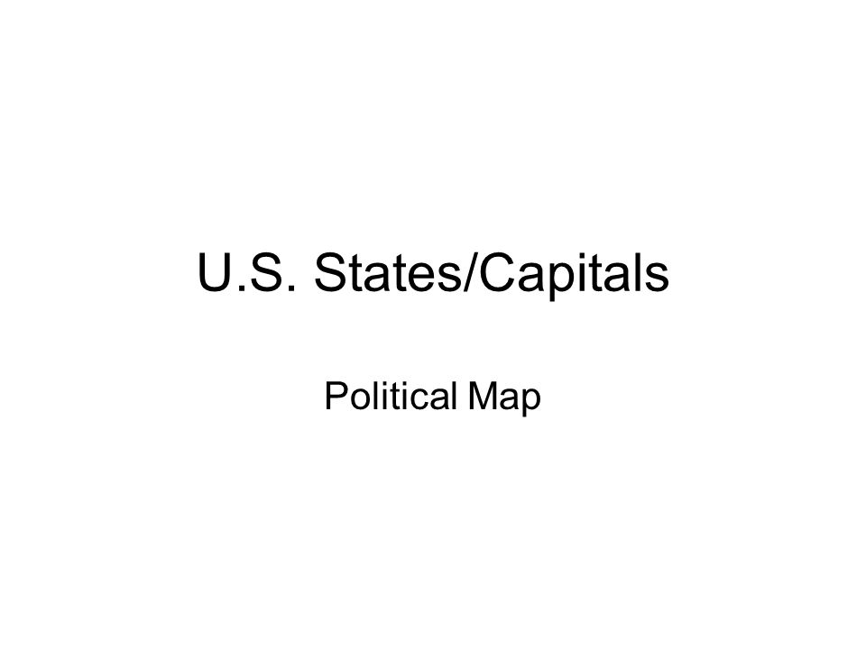 US StatesCapitals Political Map Ppt Video Online Download - Map of the us staes