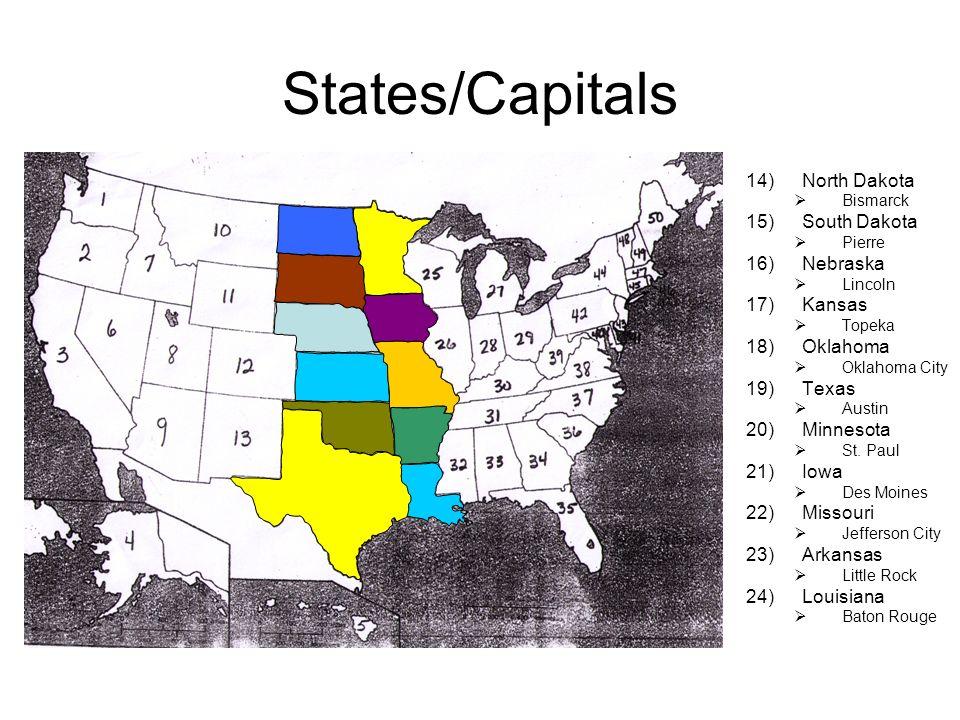 4 States Capitals North Dakota South
