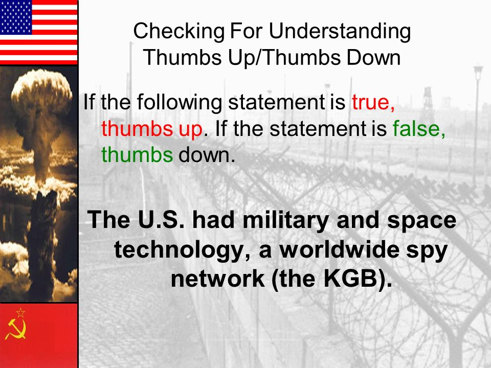 Checking For Understanding Thumbs Up/Thumbs Down