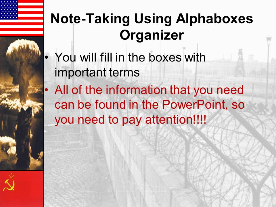 Note-Taking Using Alphaboxes Organizer