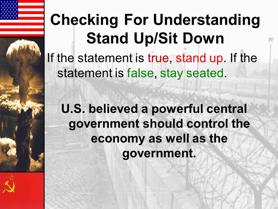 Checking For Understanding Stand Up/Sit Down