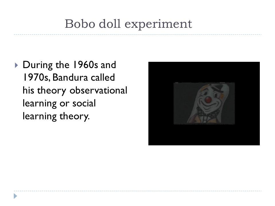 psychology bobo doll experiment Bandura psychology is a good research paper topic for psychology the bobo doll experiment psychology is a good research paper topic for psychology.