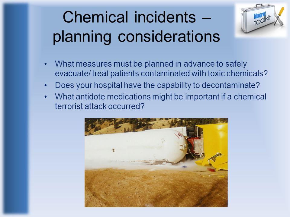 Chemical incidents – planning considerations