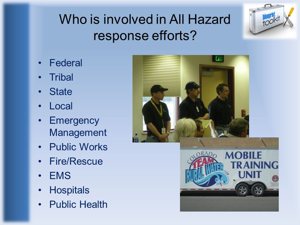 Who is involved in All Hazard response efforts