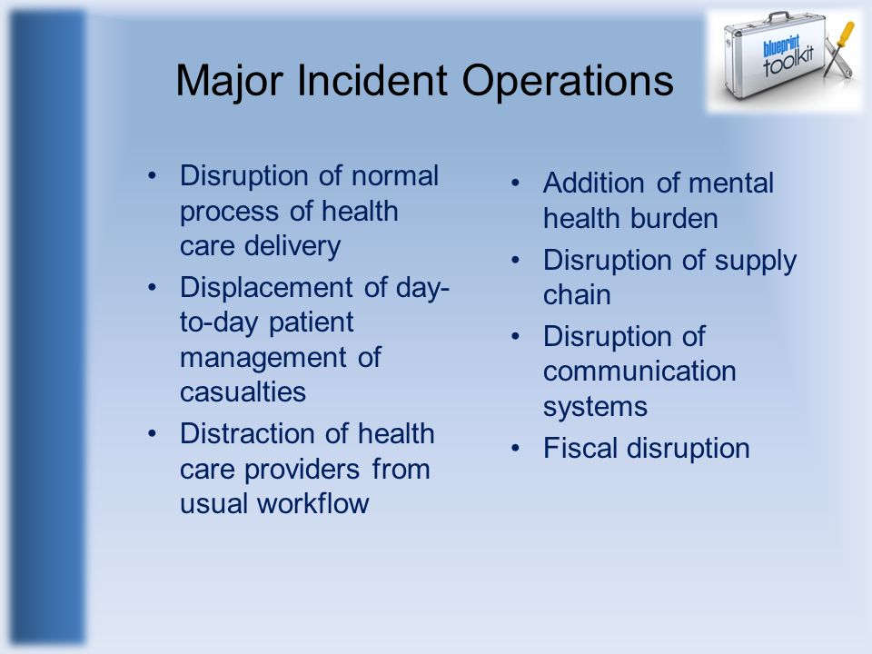 Major Incident Operations