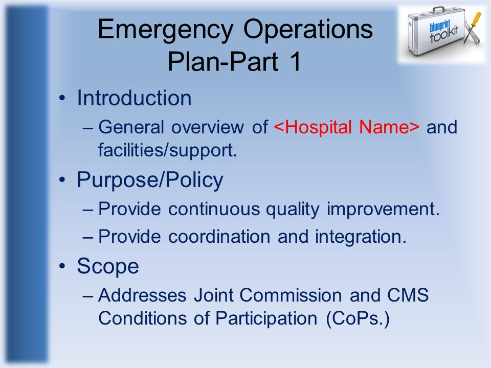 Emergency Operations Plan-Part 1