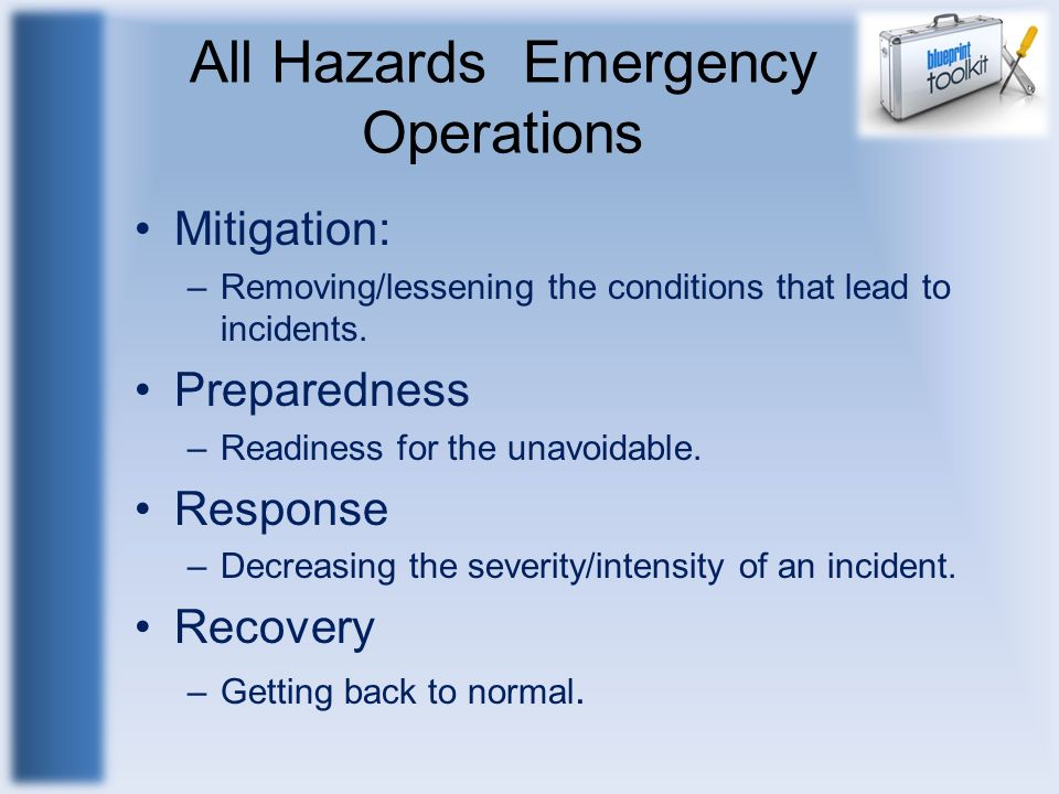 All Hazards Emergency Operations