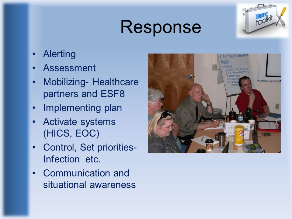Response Alerting Assessment Mobilizing- Healthcare partners and ESF8