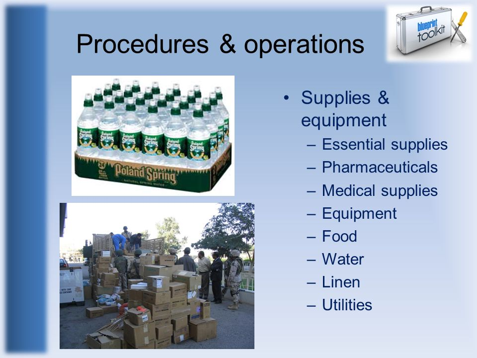 Procedures & operations