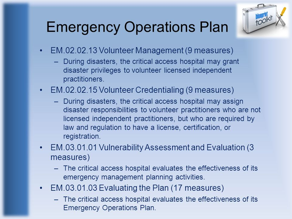 Emergency Operations Plan