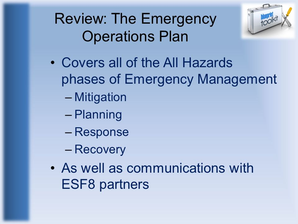 Review: The Emergency Operations Plan