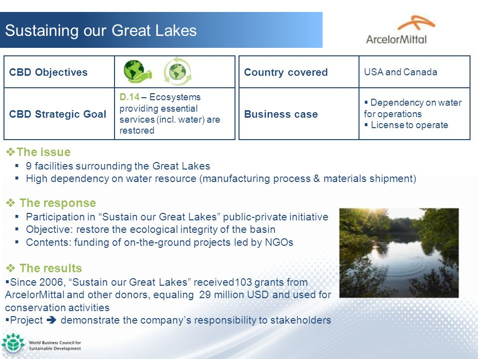 Sustaining our Great Lakes