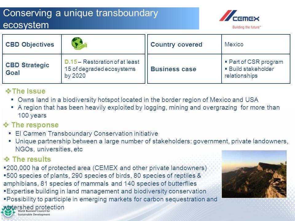 Conserving a unique transboundary ecosystem