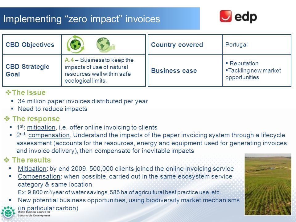 Implementing zero impact invoices