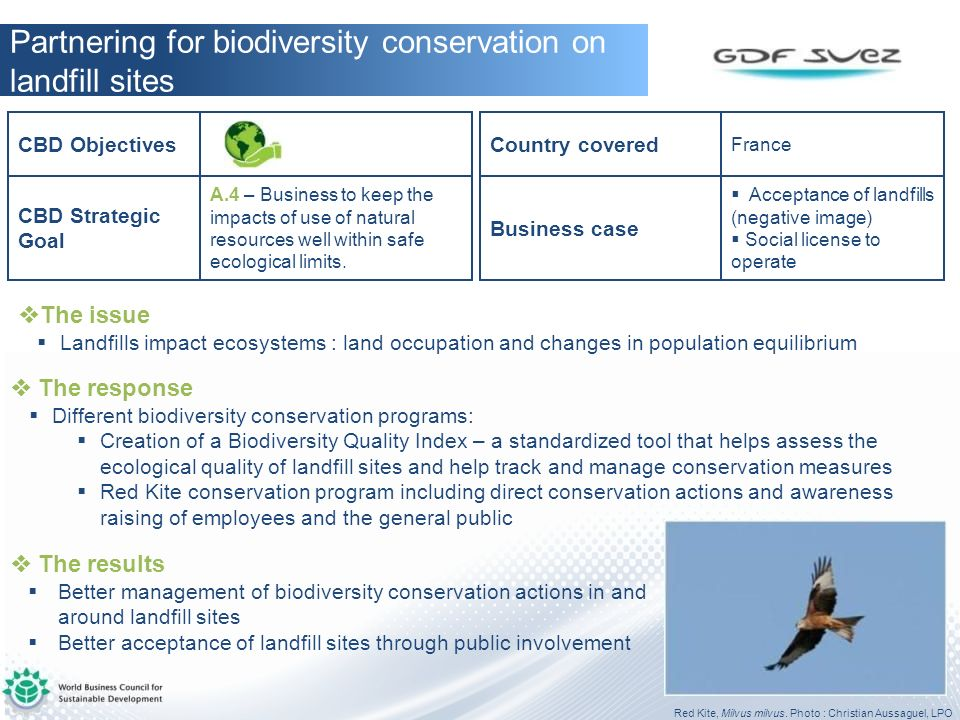 Partnering for biodiversity conservation on landfill sites